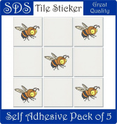 Smarts-Art 10 X Bumble bee Stickers 15cm Tiles transfers Bathroom kitchen Wall