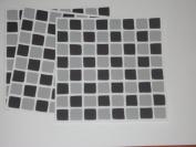 10 x Black & Grey Mosaic Tile Transfers / Stickers - Transform Kitchen or Bathroom,Save Re-tiling