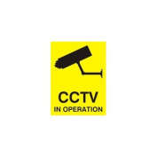 CCTV IN OPERATION SIGN - X5 WINDOW STICKERS 100x75mm