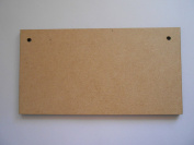 10 x Lightweight Blank MDF/Wooden Plaques/Signs - 150mm x 80mm - Ready to Decorate!