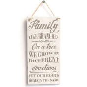 Family Like Branches On A Tree We Grow In Different Directions Yet Our Roots Remain The Same - Handmade Shabby Chic Wooden Sign / Plaque