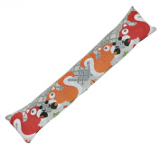 Tapestry Style Draught Excluder Woodland Door Window Draught Cushion - Squirrel