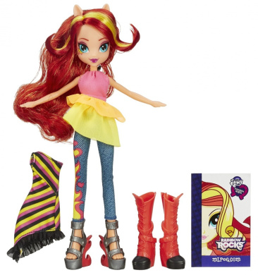 My Little Pony Equestria Girls Rainbow Rocks Sunset Shimmer Doll with Fashion