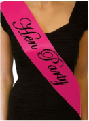 Hen Party Night Do Sash - Sashes Accessories Hot Pink Novelty Game Gift - ES SB1060HP