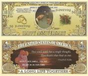 Novelty Dollar Happy Anniversary Dollar Bills X 4 Gift New Wedding