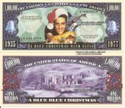 Novelty Dollar Elvis Presley a Blue Christmas Million Dollar Bills x 2 King of Rock N Roll