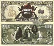 Novelty Dollar Charlies Angels Farrah Fawcett Majors Kate Jackson Jaclyn Smith Dollar Bills x 4
