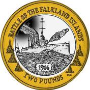 Falkland Islands 2014 Centenary of the Battle of Falkland £2 Coin