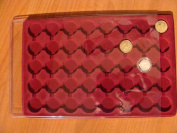 """SCHULZ"""" TRAY FOR 40 COINS (HALF CROWN)32mm-CLEAR COVER PO40"""