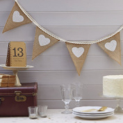 Ginger Ray Hessian Burlap and Lace Wedding or Home Bunting - Vintage Affair