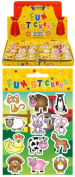 6 Sheets of Farm Stickers ideal for Party Bag Fillers - Party Gifts