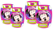 Stamp Disney Minnie C863094 Elbow and Knee Pads - Motif of Minnie Mouse with Bow