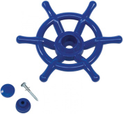 Pirate Boat Steering Wheel Solid Plastic Kids Climbing Frames or Tree Houses -Dark Blue-Heavy Duty.
