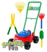 Toy Lawn Mower and Gardening Tools Set