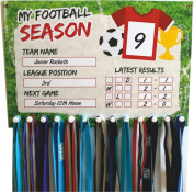 Football Medal Display with changeable results