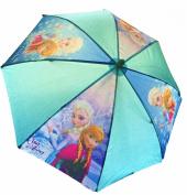Disney® Frozen Kids Children Girls Blue Umbrella Brolly (Anna & Elsa) - Sun/Rain - Official