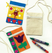 Plain Fabric Shoulder Purses for Children to Paint, Decorate & Personalise- Pack of 5