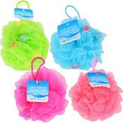 April Bath & Shower Mesh Bath Sponges, 13cm . Pack of 4 Bath Sponge