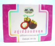 Mangosteen Peel Herbal Soap the Deodorant Body Heal the Skin Pores Made in Thailand BY Siam-Mana-Group