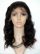 Sina Beauty Unprocessed Human Hair 46cm Front Lace Wig Body Wave Glueless Lace Front Wigs #2 Indian Virgin Human Hair Lace Wig.