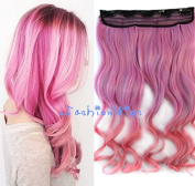 Pink Two Colour Ombre hair extension, Synthetic Hair extensions UF245