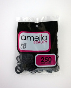 Amelia Beauty 250 Count Elastic Rubber Band Pony Tail Holders