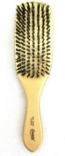 hard wave BOAR BRISTLE WAVE HAIR BRUSH durag gold colour, reinforced bristles, hard bristle, natural wood, wood handle, gold finish, polished gold, long hair, short hair, wavy hair, curly hair,