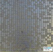 FLEXIPIXTILE, Modern Aluminium Mosaic Tile, Peel & Stick, Backsplash, Accent Wall, 0.09sqm,SILVER SPOON