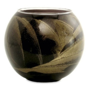 Northern Lights Candles Esque Polished Globe - 10cm Ebony