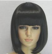 Short BOB Straight Wig Party Wig like Real Human Hair Full Wig