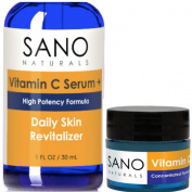 Vitamin C Serum for Face 20%. Eye Cream with Hyaluronic Acid for Anti Wrinkle, Anti Ageing Skin Care