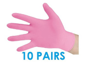 10 PAIRS of Professional Nitrile Gloves for applying Self Tanner, Tanning products - Fake Bake, Xen Tan Mousse, Lotion or Gels