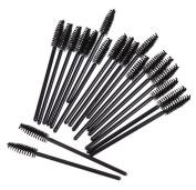 shot-in 50PCS Makeup Disposable Eyelash Mini Brushes Mascara Wands Applicator Spoolers