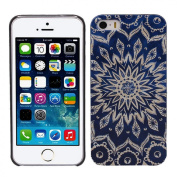 Doinshop (TM) Cute Fashion Blue Aztec Tribal Pattern Hard Skin Case Cover for iPhone 5 5S 5G