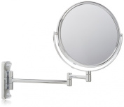 Jerdon JP7506CF 20cm Wall Mount Makeup Mirror with 5x Magnification, Chrome Finish