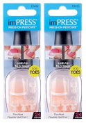 """**NEW 2-PACK** KISS imPRESS """"ICANDY"""" by Broadway Press-On Toenails"""