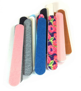 Jaylie TM Colourful Mini Salon Board Nail Files (1 Dozen) Made in USA