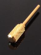 Beauticom Professional Gold Large Dome Top Barrel Carbide Bit (Coarse) 0.2cm Shank Size