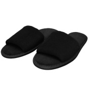 Terry Velour Open Toe Slippers Cloth Spa Hotel Unisex Slippers Plum