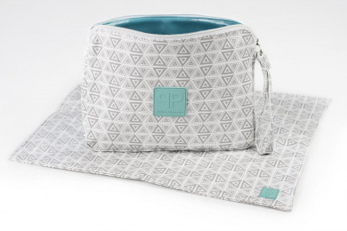 Posh Play Nappy Clutch & Changing Pad Combo - Aztec