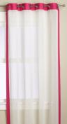 Editex Home Textiles Veronica Window Panel, 140cm by 160cm , Hot Pink