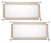 Safety 1st Wide Doorways Fabric Gate, Natural, 2 Pack