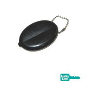 Plastic Squeeze Coin Holder Black