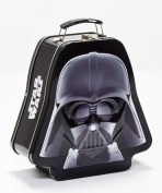 Vandor 52348 Star Wars Darth Vader Shaped Tin Tote with Embossing, Black/White
