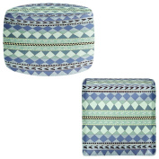 Ottoman Foot Stool Pouffe Round or Square from DiaNoche Designs by Nika Martinez Home Decor and Unique Bedroom Ideas - Purple Native Forest