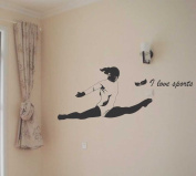 Large--Easy instant decoration wall sticker wall mural Sport boy girl adault room decal SPS164 gym gymnastic