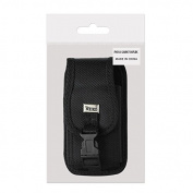 Reiko Rugged Pouch with Buckle for Samsung Galaxy Note 2 N7100 - Retail Packaging - Black