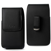 Reiko Vertical Pouch for Samsung Note II N7100 - Retail Packaging - Black