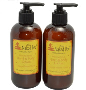 The Naked Bee - Orange Blossom Honey Lotion 240ml with Pump - 2 pack