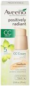 Aveeno Positively Radiant CC Cream SPF 30, Medium Tinted Moisturiser, 70ml